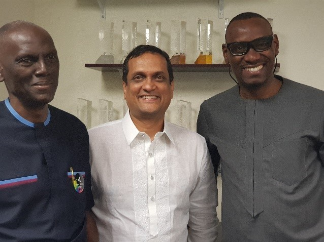 From Left - Ayo Oluwatosin, GMD, Rosabel Group; Srikanth Ramachandran, Founder/CEO, Moving Walls and Tosan Omagbemi, MD, Interaction Channel Ltd.