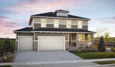 The Hemingway is just one of 12 distinctive Richmond American floor plans offered at Rose Farm Acres in Berthoud.