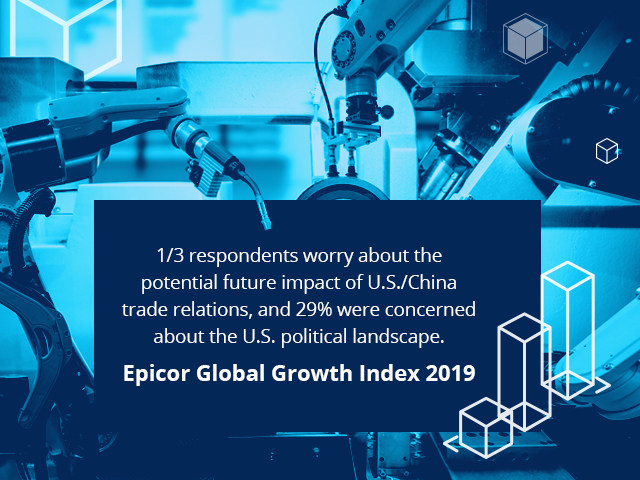 """""""The information in the Global Growth Index empowers businesses so they can make strategic plans that will best position them for the future."""" Steve Murphy, CEO, Epicor Software Corporation"""