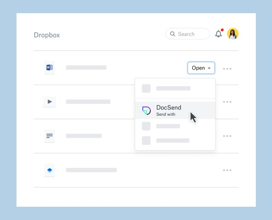 DocSend is now a Dropbox Extensions partner, allowing Dropbox users to collaborate, share, and track their files using DocSend.