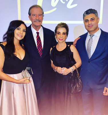 From left to right: Fabiola Segovia, Vicente Fox, Marta Sahagun, Abteen Vaziri