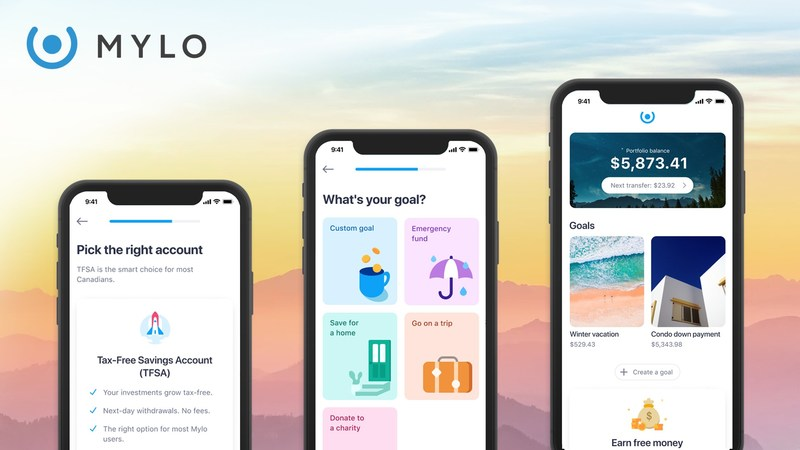 Mylo, the Montreal-based fintech, secured $10M in financing from major Canadian financial institutions for its app that helps Canadians automate their saving and investing. (CNW Group/Mylo)