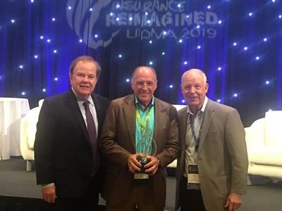 LIDMA President Jan Pinney, 2019 Vision Award Recipient Thomas Lane and 2018 Vision Award Recipient Tom Grant.