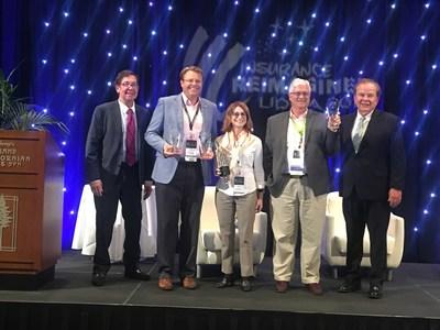 LIDMA Innovation Award Chair Frank T. Gencarelli, Doug Massey, Insurance Technologies, Alyson Kanney, Jornaya, Jeff McCauley, Paperless Solutions Group and LIDMA President Jan Pinney,