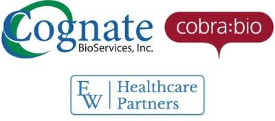 Cognate BioServices adquire a Cobra Biologics em uma ação transformadora para as duas empresas, com financiamento da EW Healthcare. A aquisição cria uma plataforma empresarial global para acelerar a transição de tecnologias celulares e gênicas para terapêuticas comerciais inovadoras. (PRNewsfoto/Cobra Biologics, Cognate)