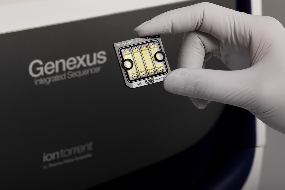 Thermo Ion Torrent Genexus Sequencer instrument. On location.