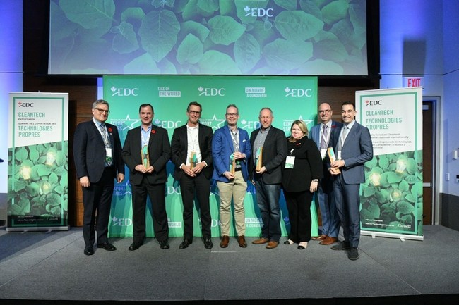 Congratulations to Effenco, ecobee, and Semios, which were named this year's Export Stars, and Vive Crop Protection and MineSense were identified as the Ones to Watch. (CNW Group/Export Development Canada)