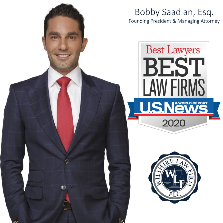 Pictured: Wilshire Law Firm Founding President and Managing Attorney Bobby Saadian, Esq.
