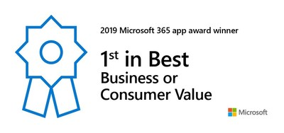 Microsoft has awarded Nintex Forms for Office 365 with a 1st Place award for Most Business or Consumer Value in this year's Microsoft 365 App Awards.