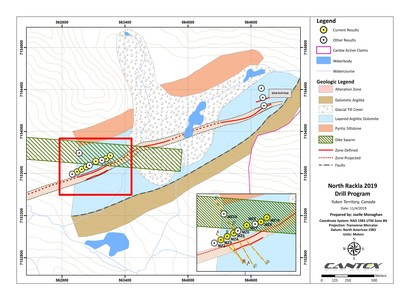 Figure 1.  Drilling plan view (CNW Group/Cantex Mine Development Corp.)