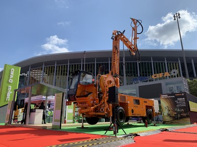 CIFA's CSS-3 Shotcrete Machine on Display at CIIE