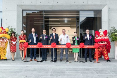 SHL leaders and Taiwan government dignitaries grace the Liufu site ribbon-cutting ceremony.