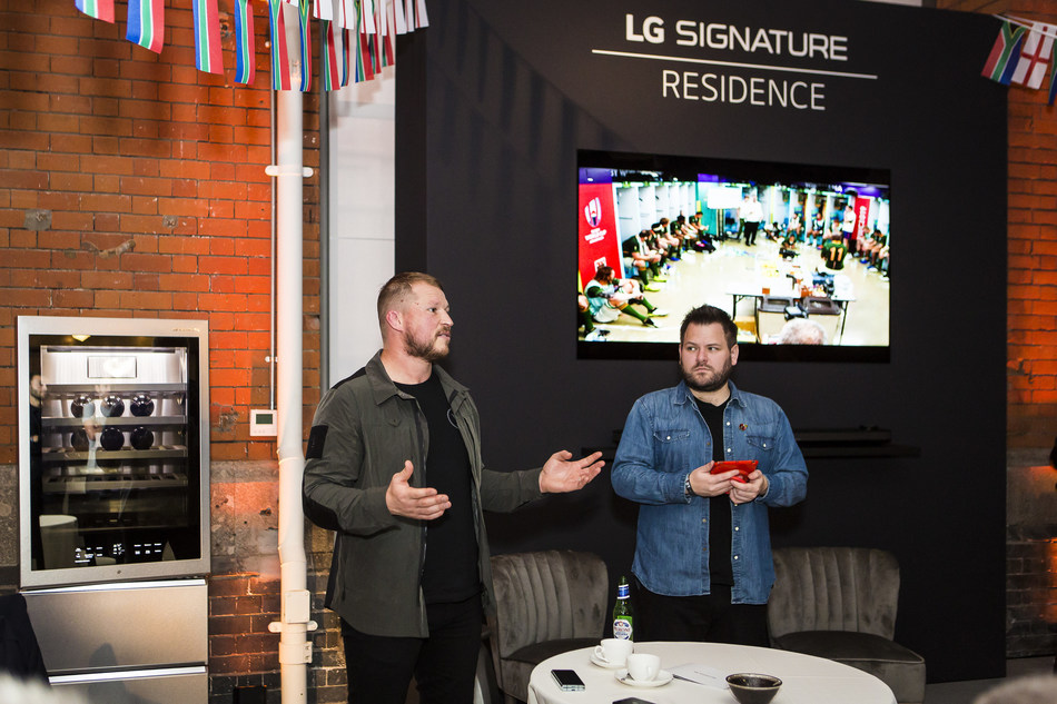 LG SIGNATURE held a screening of the Rugby World Cup final, hosted by former England rugby captain Dylan Hartley.
