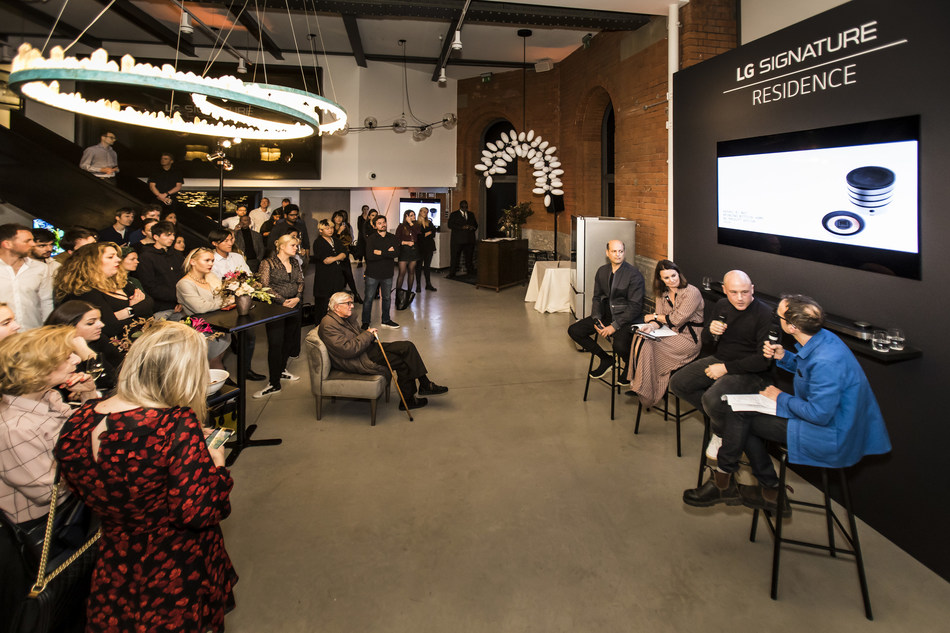 LG SIGNATURE hosted the Masters' Talk at its London charity party to highlight the close relationship between art and technology.
