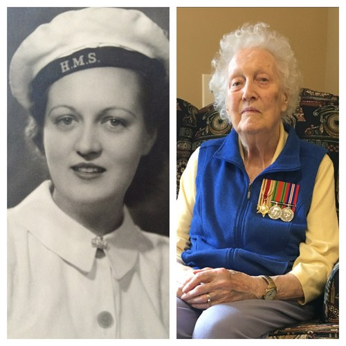 """Breaking the Codes to Win the War. Pamela McInerney, 95, a resident of Chartwell Martha's Landing Retirement Residence in Burlington, ON, served as a Royal Navy codebreaker in WWII, a member of the famous British intelligence operation credited with shortening the war. """"It enabled very often the British to know what the German troops were going to be doing before the German troops knew what they were going to be doing."""" (CNW Group/Chartwell Retirement Residences)"""