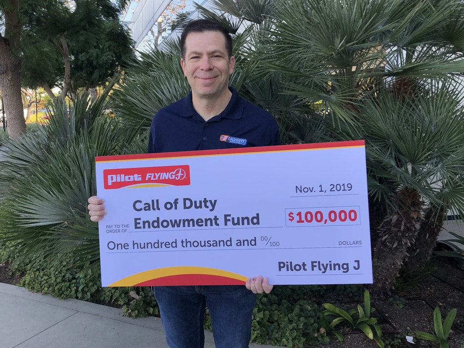 In appreciation of its many veteran team members and guests, Pilot Flying J donated $100,000 to the Call of Duty Endowment to help veterans transition to successful careers after the military.