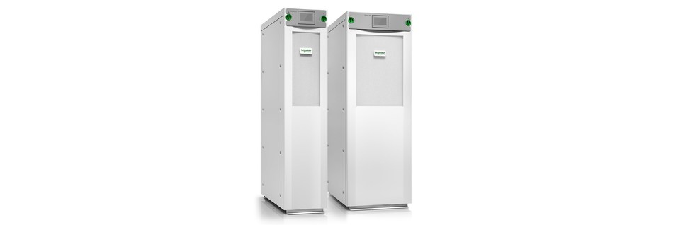 The new Schneider Electric Galaxy VS 10-50 kW with internal smart battery modules (CNW Group/Schneider Electric Canada Inc.)