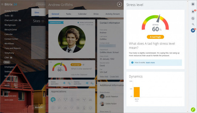 Bitrix24 becomes the first workplace management solution to combine employee performance measurements with personal well-being data for a more holistic approach to productivity.