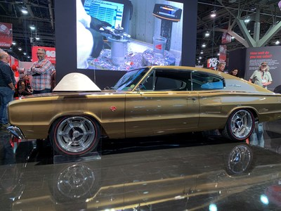 Axalta debuted a custom-built 1966 Dodge Charger in its 2019 Automotive Color of the Year, Sahara, in Las Vegas at the 2019 SEMA Show.