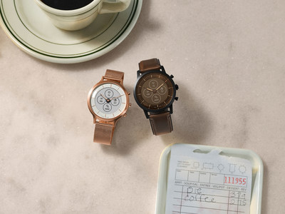 Fossil Group will launch all-new Hybrid HR smartwatch technology this holiday season. Pictured left to right: Fossil Hybrid Smartwatch HR Charter and Hybrid Smartwatch HR Collider.