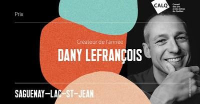 Dany Lefrançois, lauréat du prix du CALQ - Créateur de l'année au Saguenay-Lac-Saint-Jean. Crédit photo Patrick Simard (Groupe CNW/Conseil des arts et des lettres du Québec)