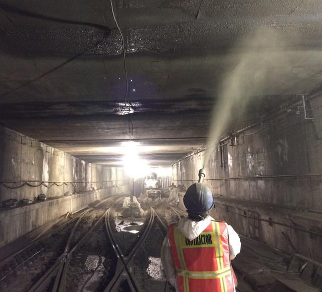 Cem-Kote CW Plus Spraying, South Ferry Subway, NY