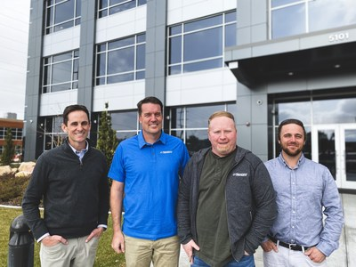Mike Greenhalgh (building owner), Matthew Meyer (Nexant Senior Engineer), Barry Pomeroy (Nexant Lighting Specialist), and Chris Cox (Nexant Engineer) worked together to get the EMI Health building ENERGY STAR certified.