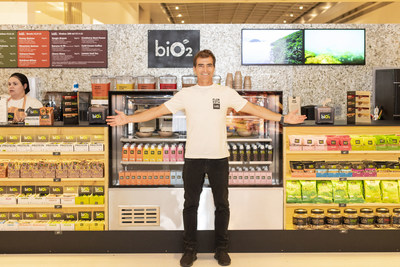 Carlos Burle, recordista de ondas gigantes, entrou para o time de atletas biO2 com a chegada do biO2 Snack Bar