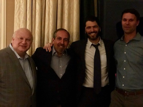 Left to Right: Dante Massaro, Chris La Mack, Peter Auerbach, Garret Giusti