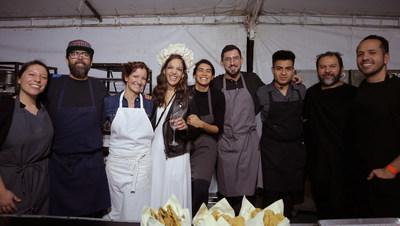 Bertha González Nieves with chefs Enrique Olvera and Daniela Soto-Innes
