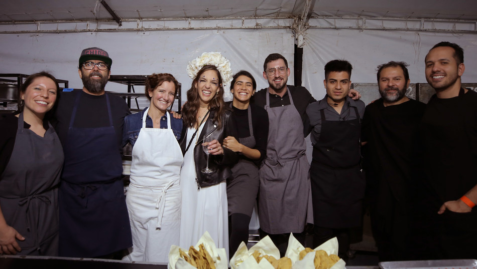 Bertha González Nieves with chefs Enrique Olvera and Daniela Soto-Innes