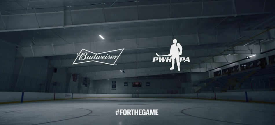 Budweiser Canada and the PWHPA release 'The Good Old Hockey Game' a bold statement using a hockey classic to gather support for women's hockey. Credit: Budweiser Canada (CNW Group/Budweiser Canada)