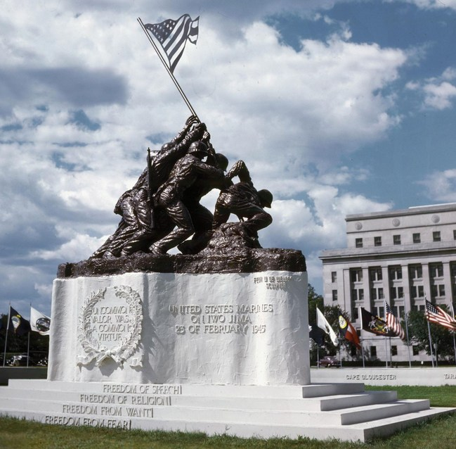 1945 Original IWO JIMA MONUMENT