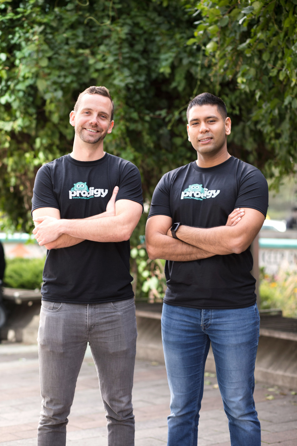 Prodigy Education Co-CEO's - Alex Peters and Rohan Mahimker (CNW Group/Prodigy Education)