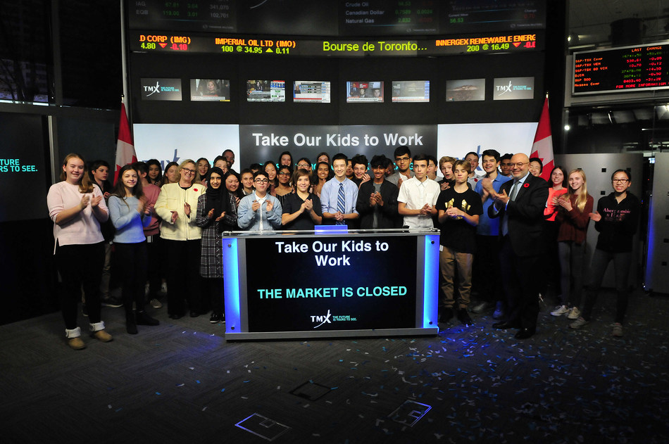 Take Our Kids to Work™ Closes the Market (CNW Group/TMX Group Limited)