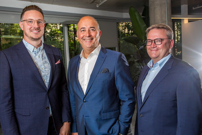 Left to right, Jeremy Clark, Concordia University, Emilio Imbriglio, President and CEO, Raymond Chabot Grant Thornton and Louis Roy, Assurance Partner and President of Catallaxy, a firm subsidiary (CNW Group/Raymond Chabot Grant Thornton)
