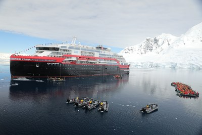 Hurtigruten Makes History with First -Ever Cruise Ship Naming in Antarctica