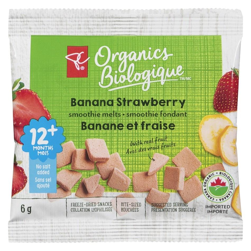 PC Organics Banana Strawberry smoothie melts (CNW Group/President's Choice)