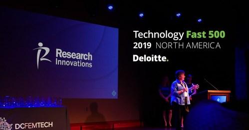 RII VP Ellen Minderman speaks at DCFEMTECH awards, June 2019