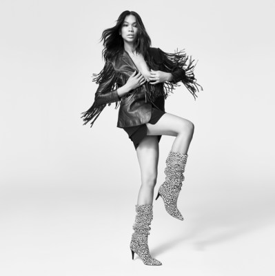 The Elizabeth Sulcer x Marc Fisher LTD campaign features supermodel, Chanel Iman, as the face