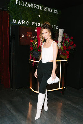Elizabeth Sulcer wearing the 'Ginnie' boot from her first-ever footwear collaboration with Marc Fisher LTD