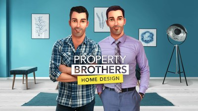 Drew and Jonathan Scott's new mobile game Property Brothers Home Design is available for free on iOS and Android phones.