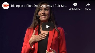 Rising is a Risk, Do it Anyway | Cait Scudder | TEDxOneonta