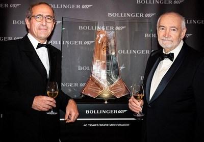 堡林爵香槟与詹姆斯-邦德庆祝长达40年的合作关系
