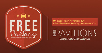 Free Parking in Upper Downtown Denver at Denver Pavilions On Black Fri & Small Biz Sat in the Underground Garage on Welton Between 15th & 16!