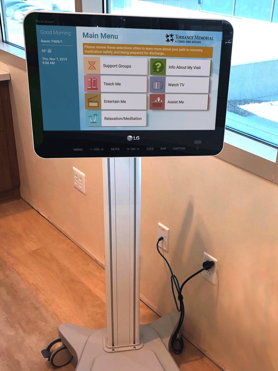 With Allen E3 on mobile carts, infusion patients at Hunt Cancer Institute can watch television and movies, watch health education videos, access information about support groups or relax to soothing relaxation videos and soundtracks while they undergo treatment.