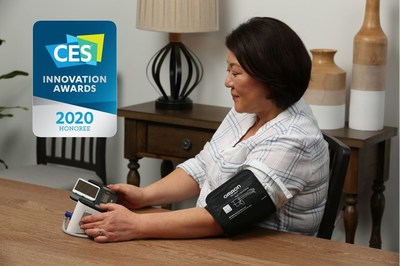 Complete™ from OMRON, the first blood pressure monitor with EKG capability in a single device, recognized as a CES 2020 Innovation Awards Honoree for outstanding design and engineering in consumer technology