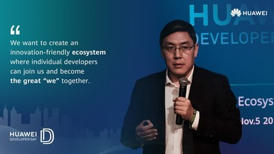 Jervis Su, Vice President of Mobile Services, Huawei Consumer Business Group introduces the new Developer Incentive Program