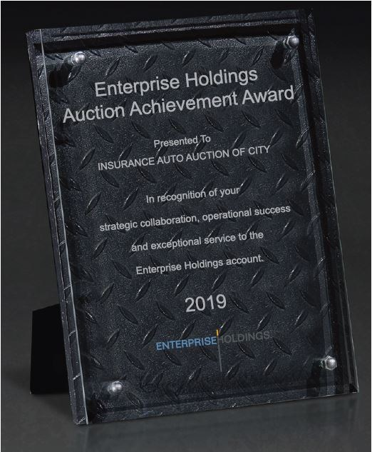 Enterprise Holdings Auction Achievement Award