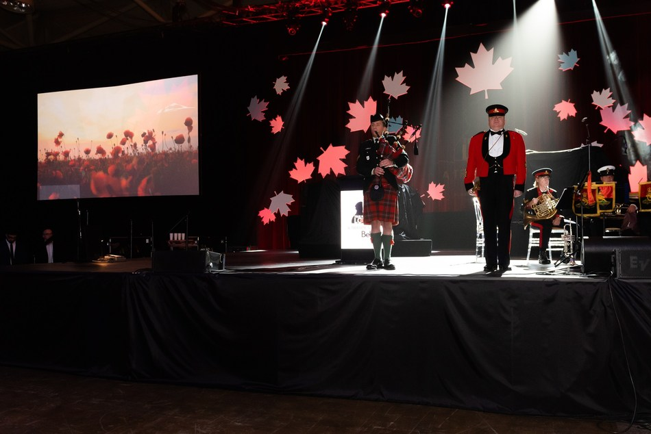 Serving members of the Canadian Armed Forces, Veterans and their families were recognized on November 7, 2019 at True Patriot Love Foundation's 11th Annual Tribute Gala, presented by Bell. (CNW Group/True Patriot Love Foundation)